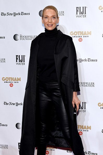 Uma Thurman attends the 2019 IFP Gotham Awards with FIJI Water on December 02, 2019 | Photo: Getty Images