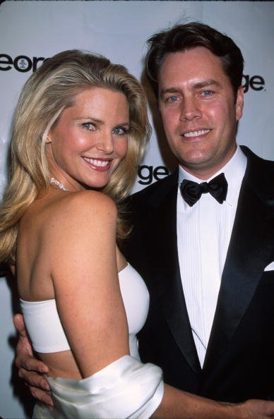 Model Christie Brinkley and ex-husband, architect Peter Cook, at party for television series The West Wing. | Photo: Getty Images