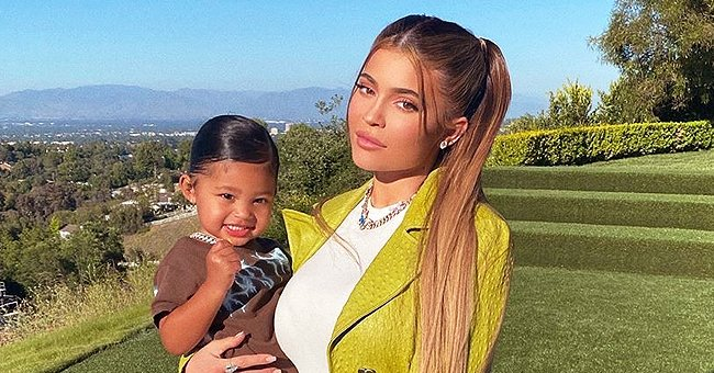 Check Out Kylie Jenner's Daughter Stormi Webster Playing around Fountains Outdoors