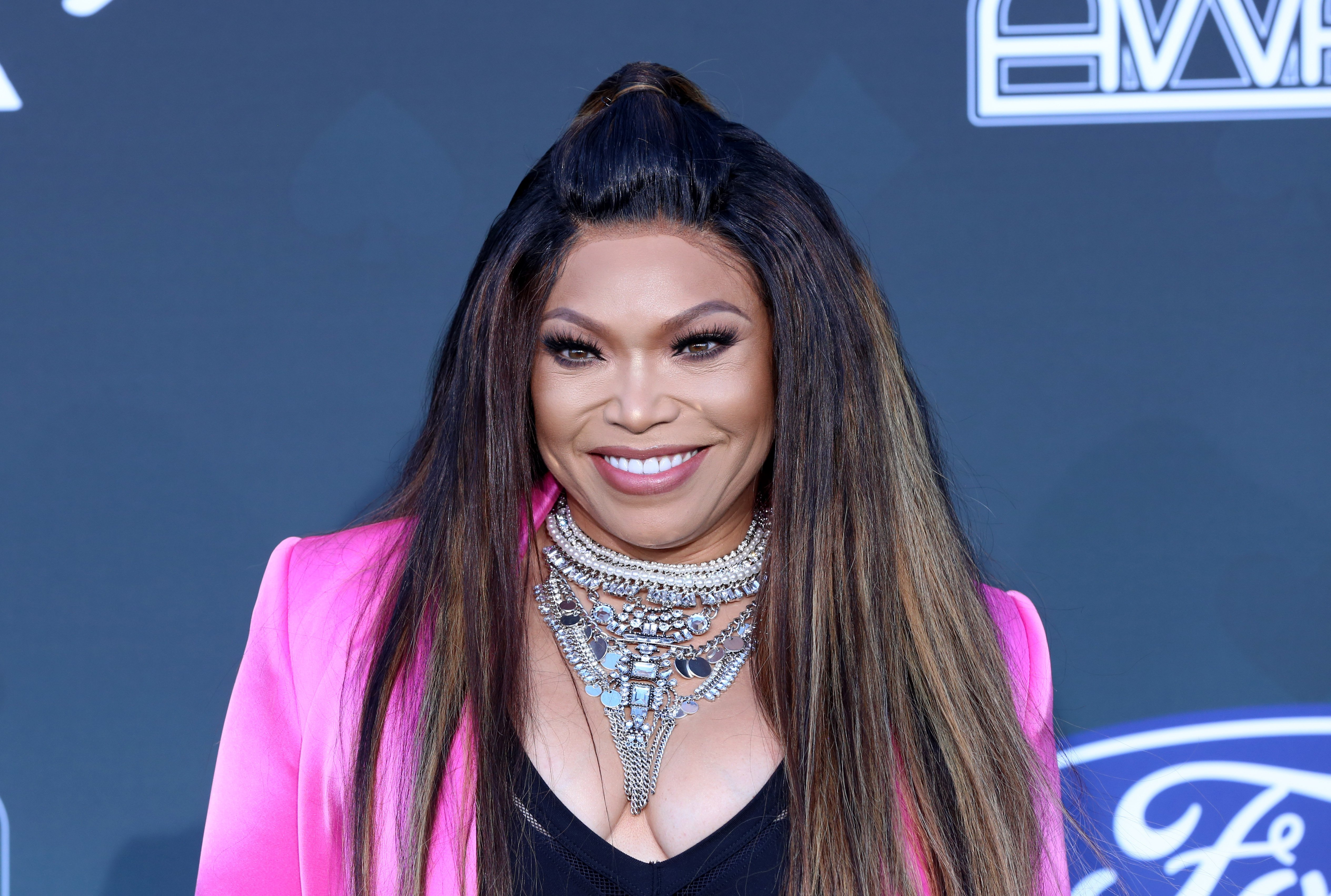 Tisha Campbell attends the 2019 Soul Train Awards at the Orleans Arena on November 17, 2019.   Photo: Getty Images
