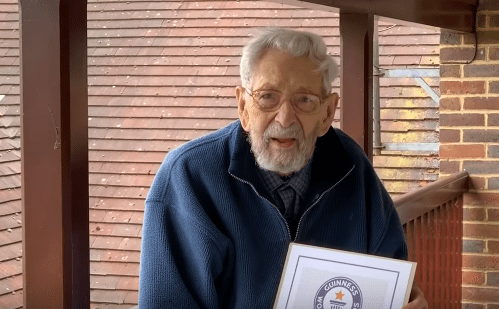 Bob Weighton, officially the oldest man in the world on March 30, 2020.   Source: YouTube/ Guinness World Records