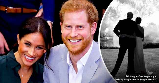 Meghan Markle and Prince Harry release never-before-seen photo from royal wedding as Christmas card