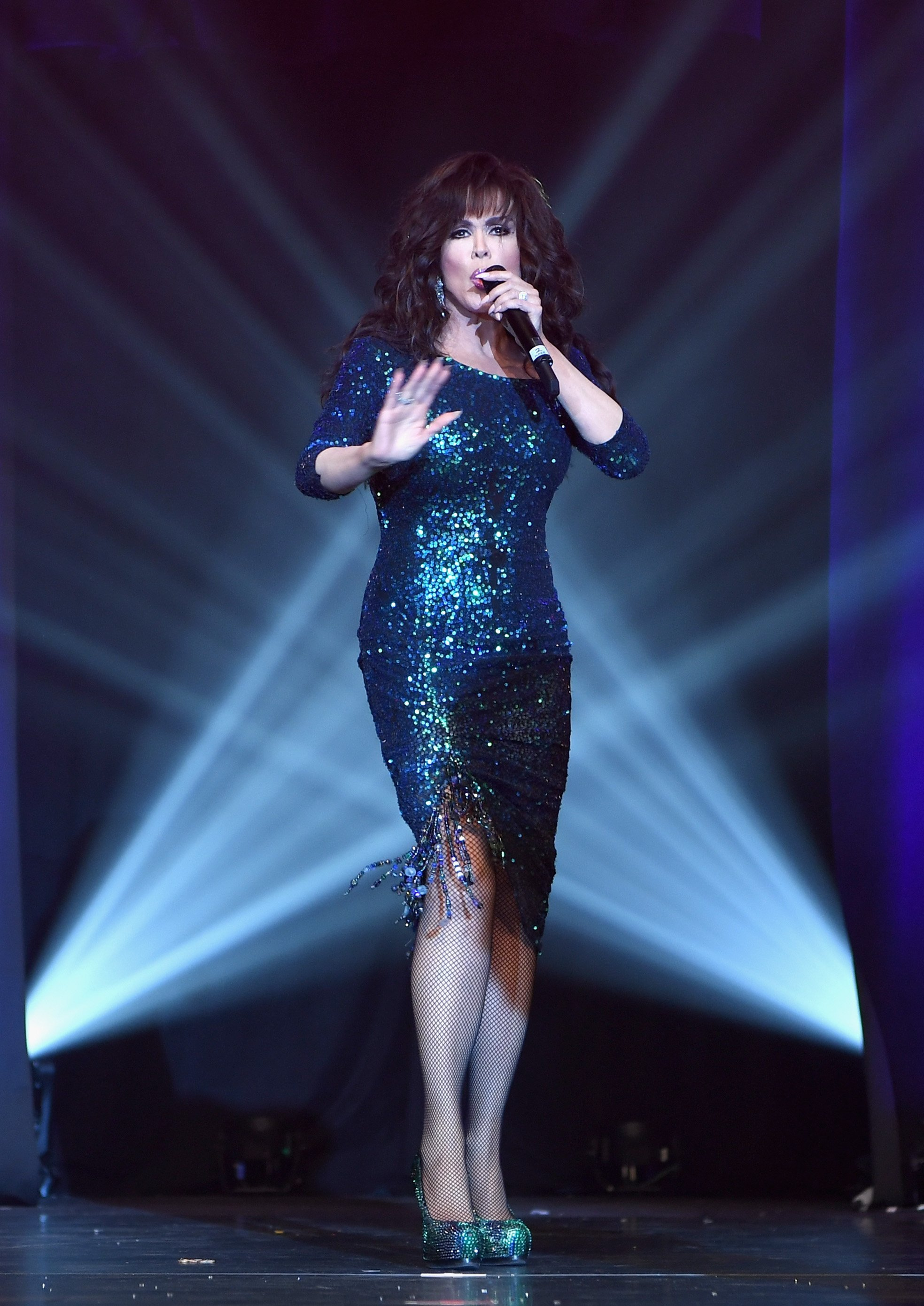 Marie Osmond performs at Caesars Palace 50th anniversary gala in Las Vegas, Nevada on August 6, 2016 | Photo: Getty Images