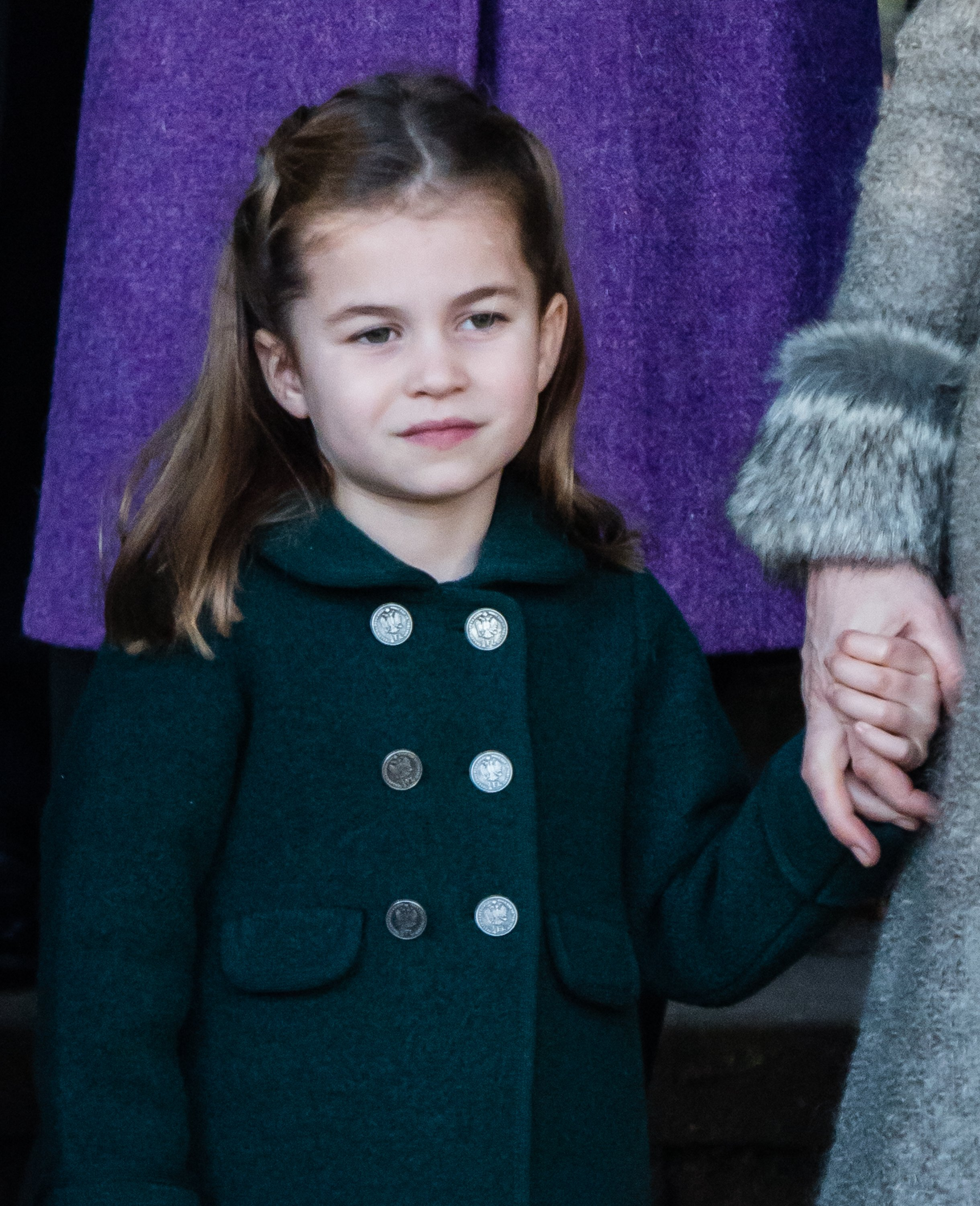 Princess Charlotte attends the Christmas Day Church Service on the Sandringham estate on December 25, 2019 | Photo: Getty Images