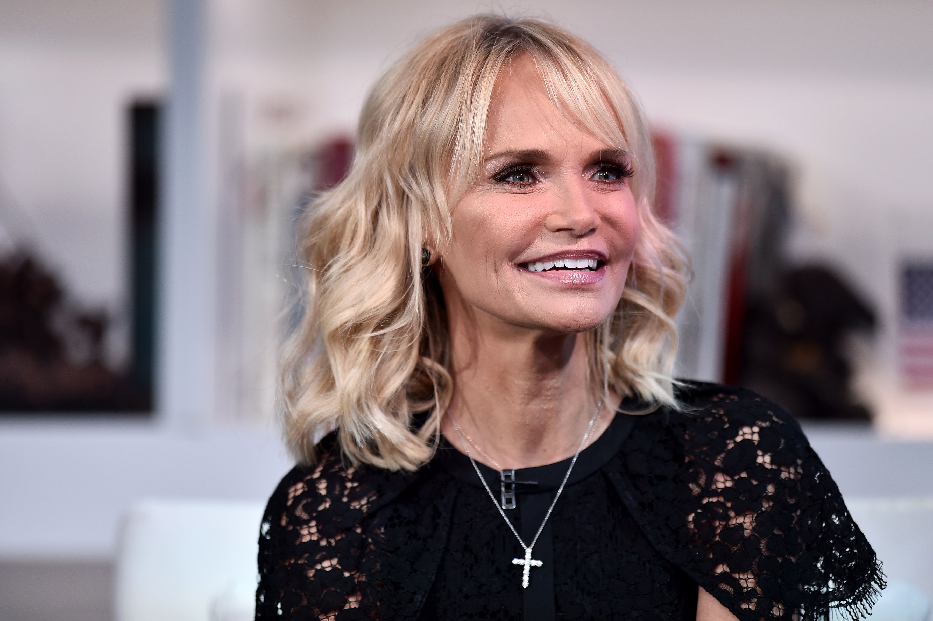 """Kristin Chenoweth during """"FOX & Friends"""" at FOX Studios on December 09, 2019 in New York City.   Source: Getty Images"""