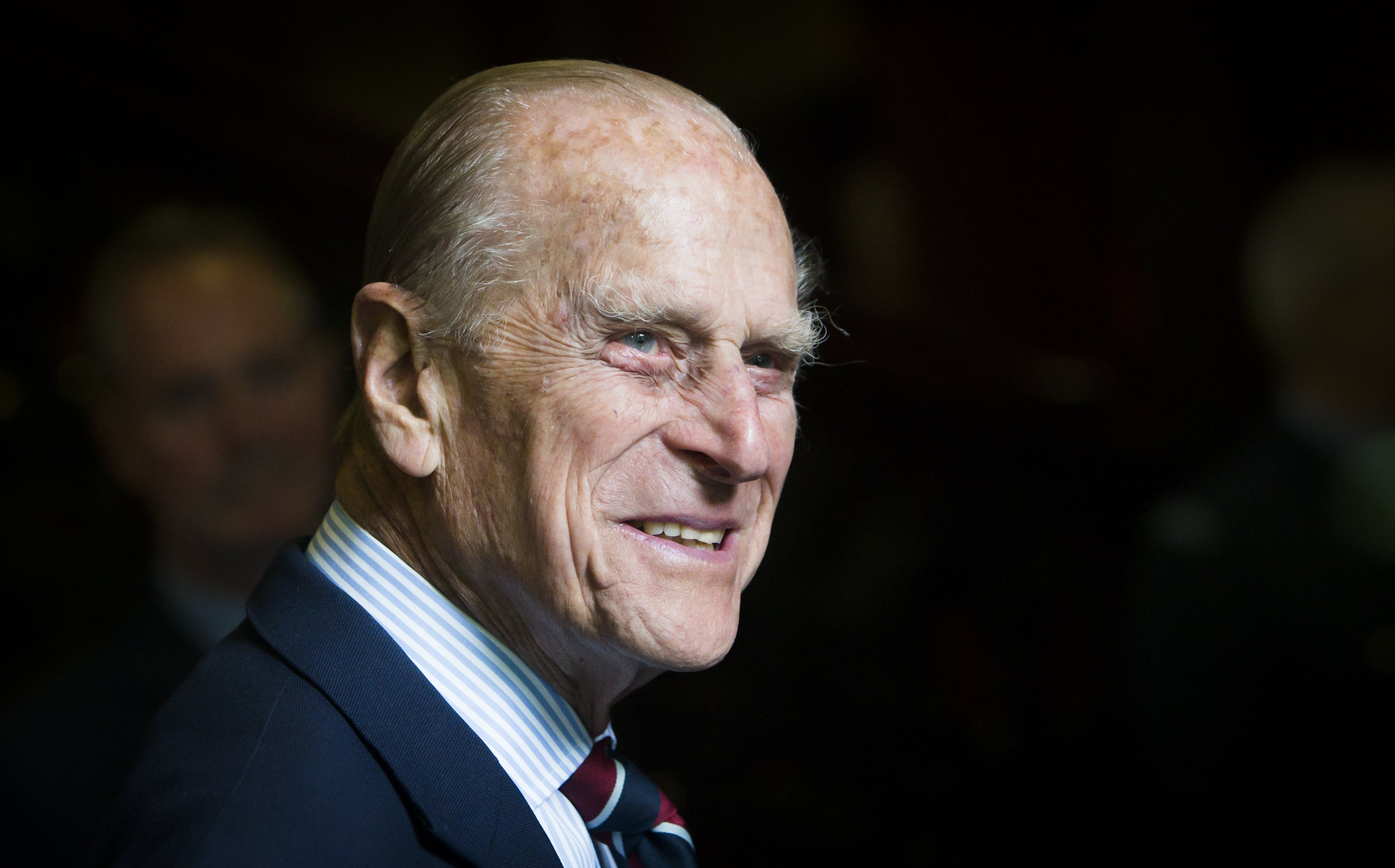 Prince Philip during a visit to the headquarters of the Royal Auxiliary Air Force on July 4, 2015, in Edinburgh, Scotland. | Source: Getty Images.