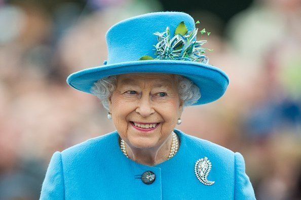Queen Elizabeth II tours Queen Mother Square in Poundbury, Dorset | Photo: Getty Images