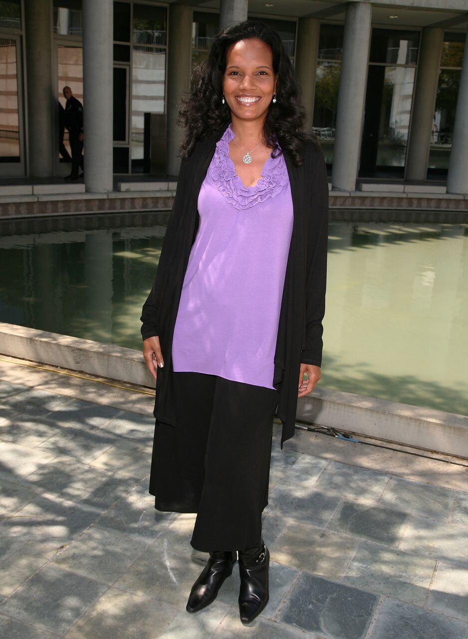 Shari Headley arrives at the 1st Historic Health Summit kick-off luncheon. | Source: Getty Images