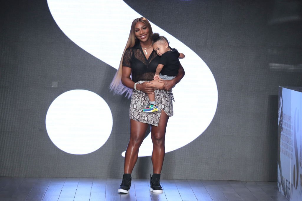 Serena Williams and her daughter, Olympia Ohanian twinning at New York Fashion week in September 2019. | Photo: Getty Images