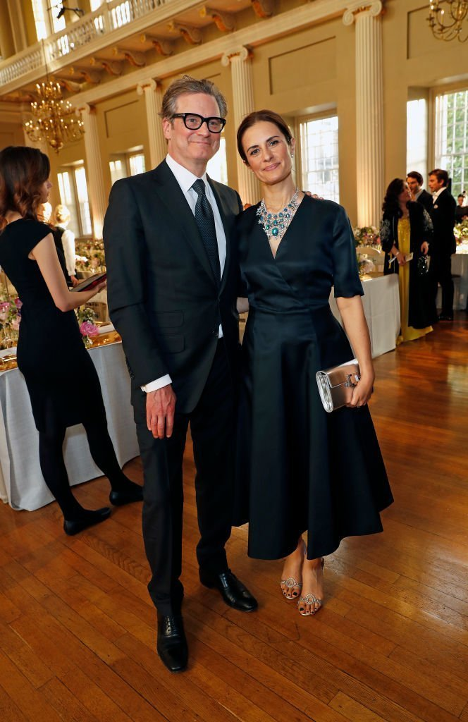 Colin Firth (L) and Livia Firth attend Chopard Bond Street Boutique reopening dinner | Photo: Getty Images