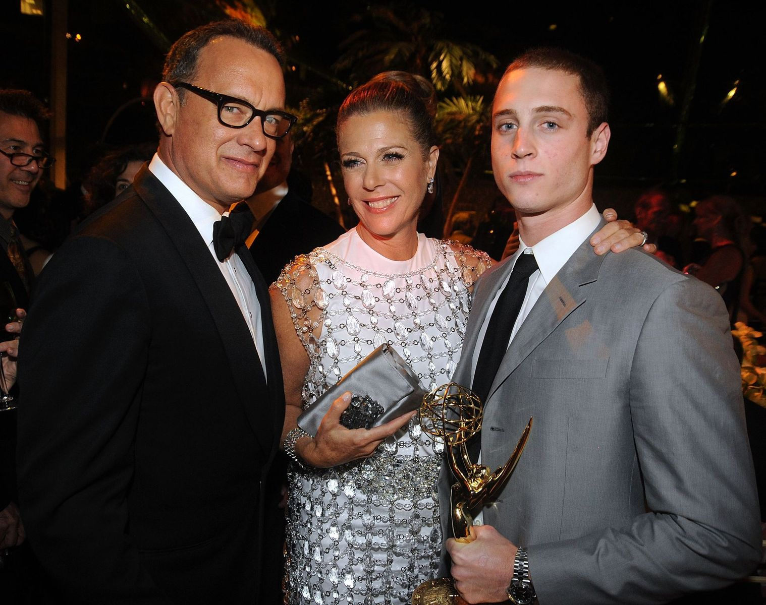 Producer/actor Tom Hanks, actress Rita Wilson and actor Chet Hanks at HBO's Annual Emmy Awards after party at the Pacific Design Center on August 29, 2010 | Photo: Getty Images