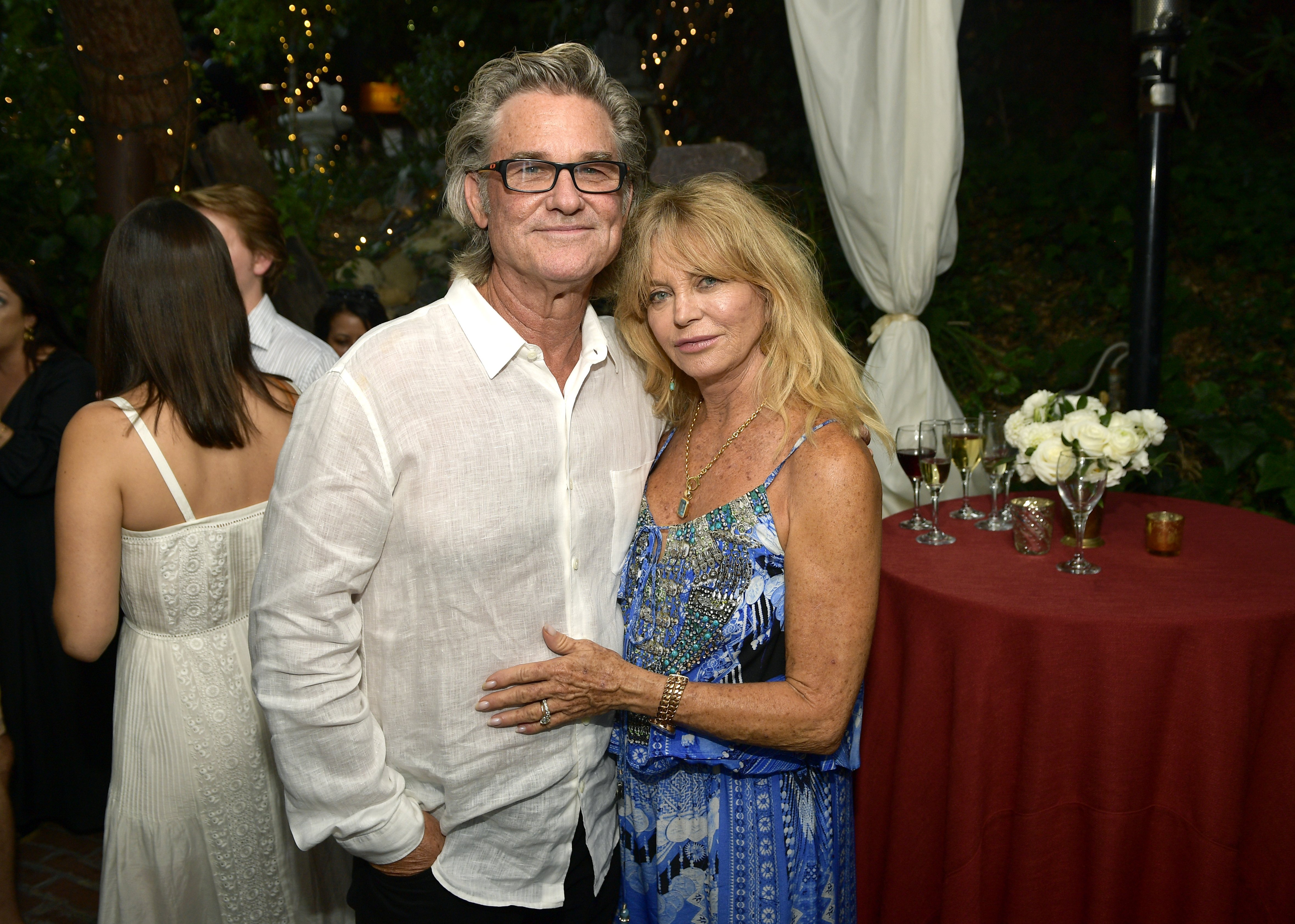 "Kurt Russell and Goldie Hawn attend the ""Wild Wild Country"" Filmmaker Toast in Topanga, California on August 4, 2018 