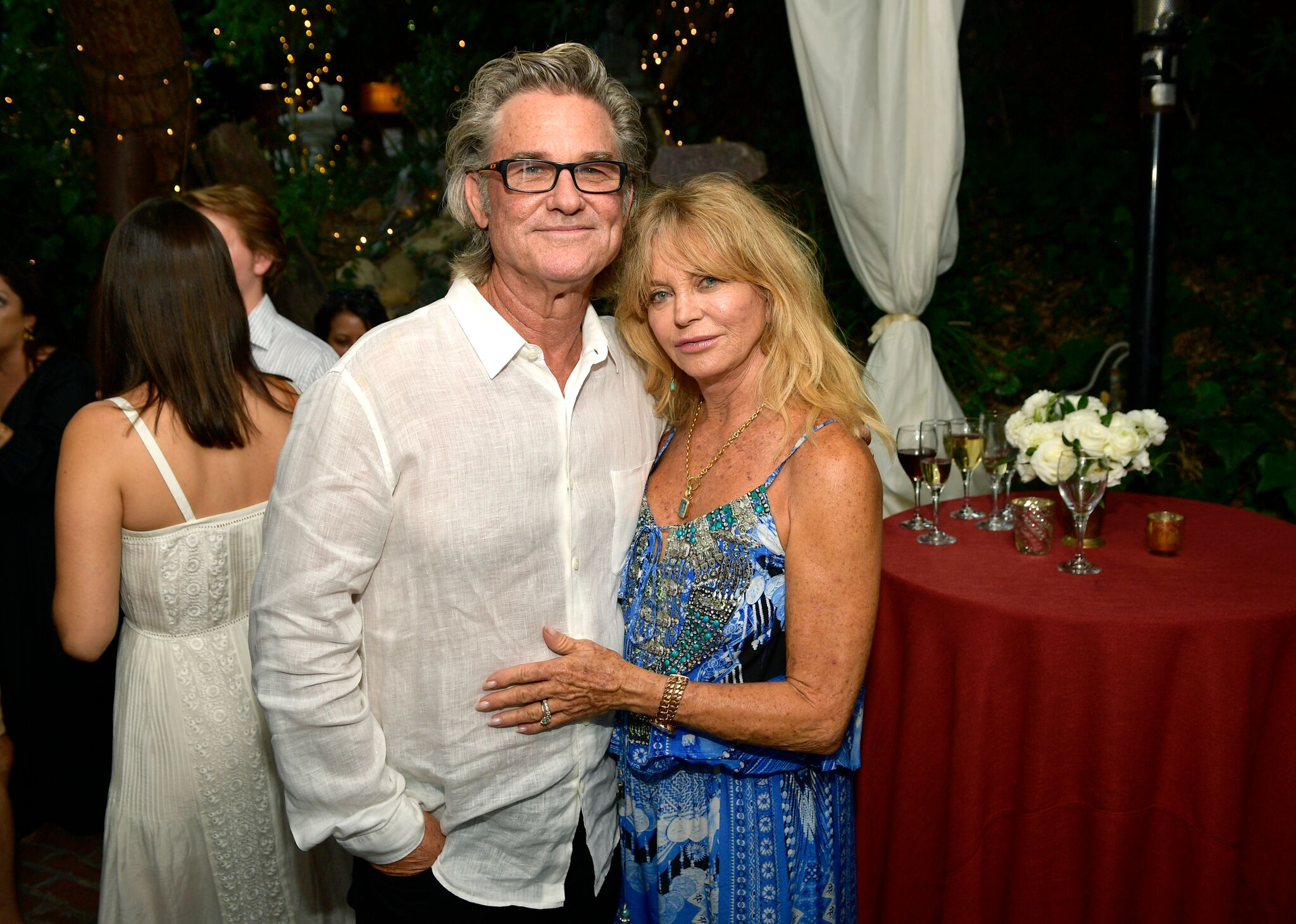 "Kurt Russell and Goldie Hawn attend the ""Wild Wild Country"" Filmmaker Toast at Inn of the Seventh Ray 