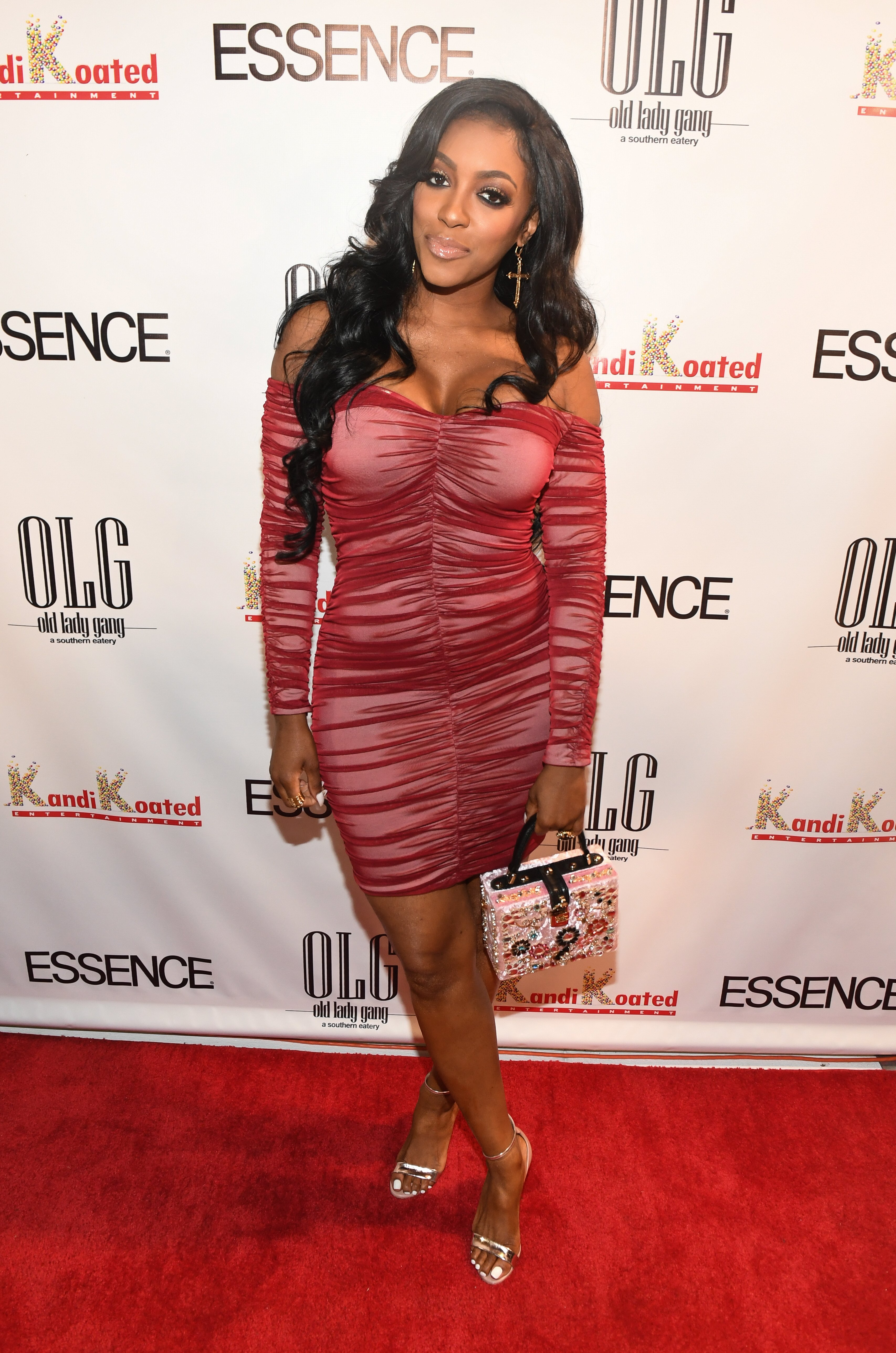 Porsha Williams at Essence Magazine's celebration of October cover star Kandi Burruss in Atlanta, Georgia, 2017 | Source: Getty Images