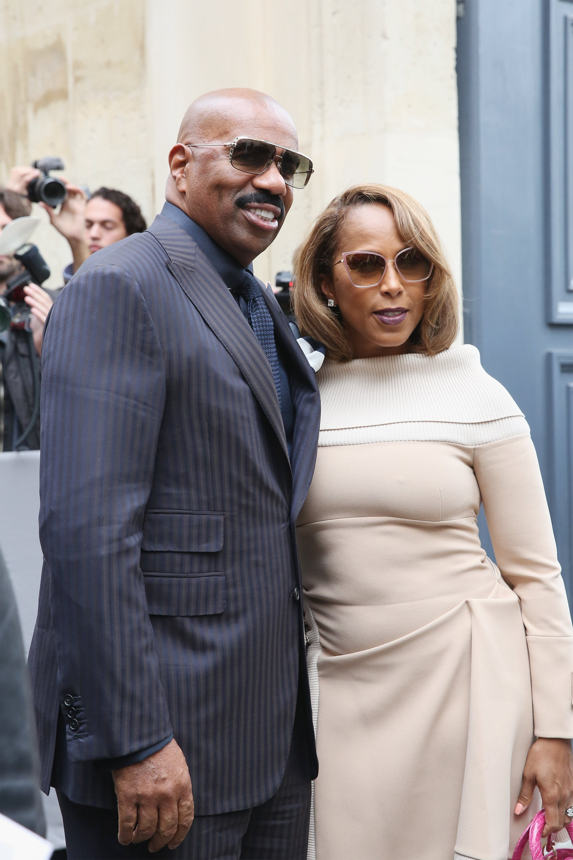 Steve & Marjorie Harvey during the Paris Fashion Week Womenswear Spring/Summer 2017 on Sept. 30, 2016 in Paris, France | Photo: Getty Images