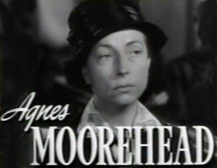 "Agnes Moorehead from the trailer for the film ""Johnny Belinda."" 