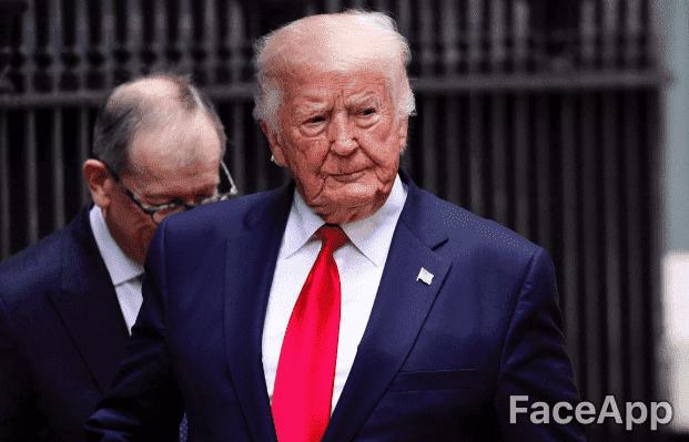 Donald Trump | Quelle: Getty Images / FaceApp