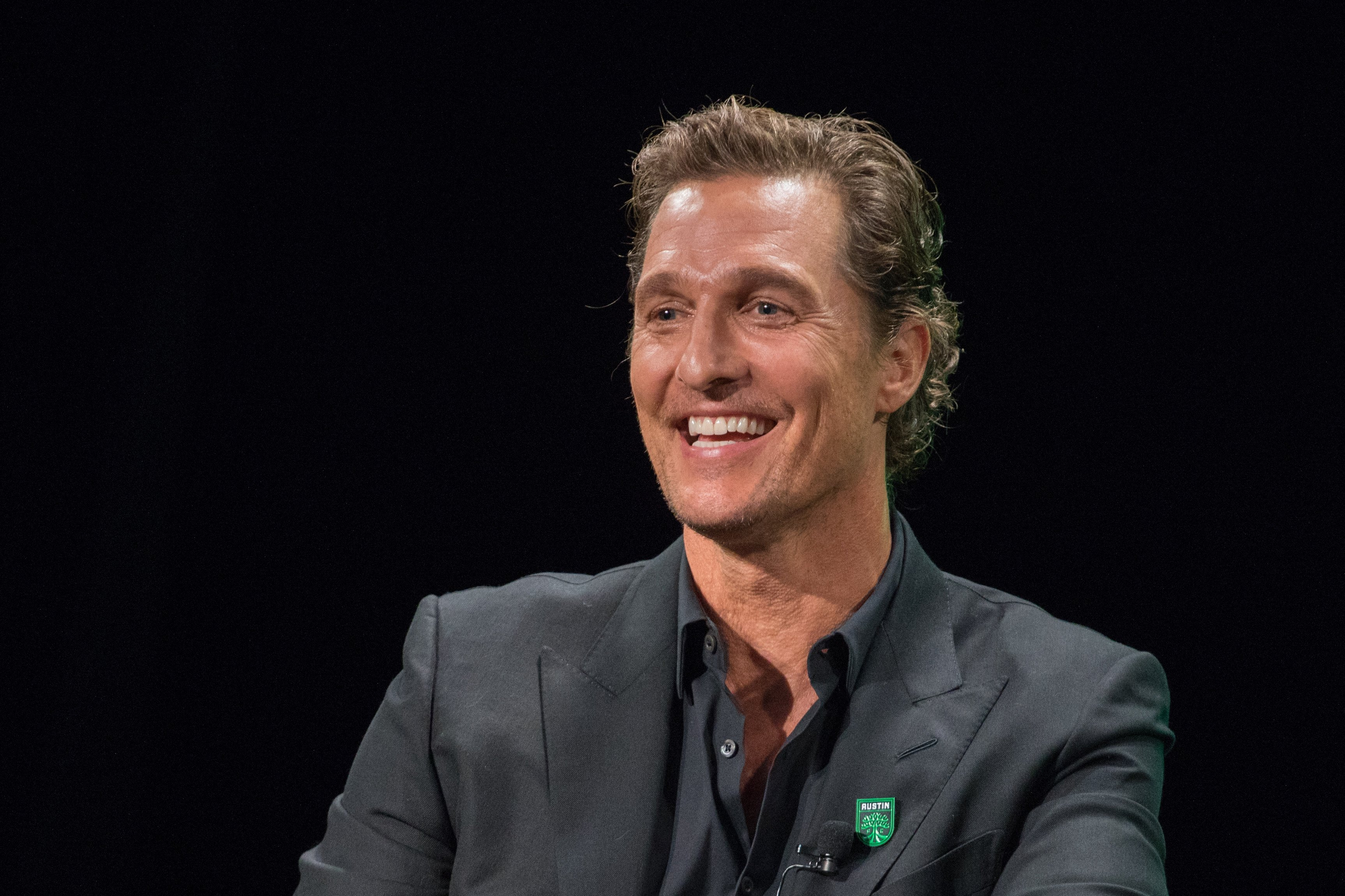 Matthew McConaughey, Academy Award-winning actor attends the Austin FC Major League Soccer club announcement of four new investors including himself as the 'Minister of Culture' at 3TEN ACL Live on August 23, 2019 in Austin, Texas.  Source: Getty Images