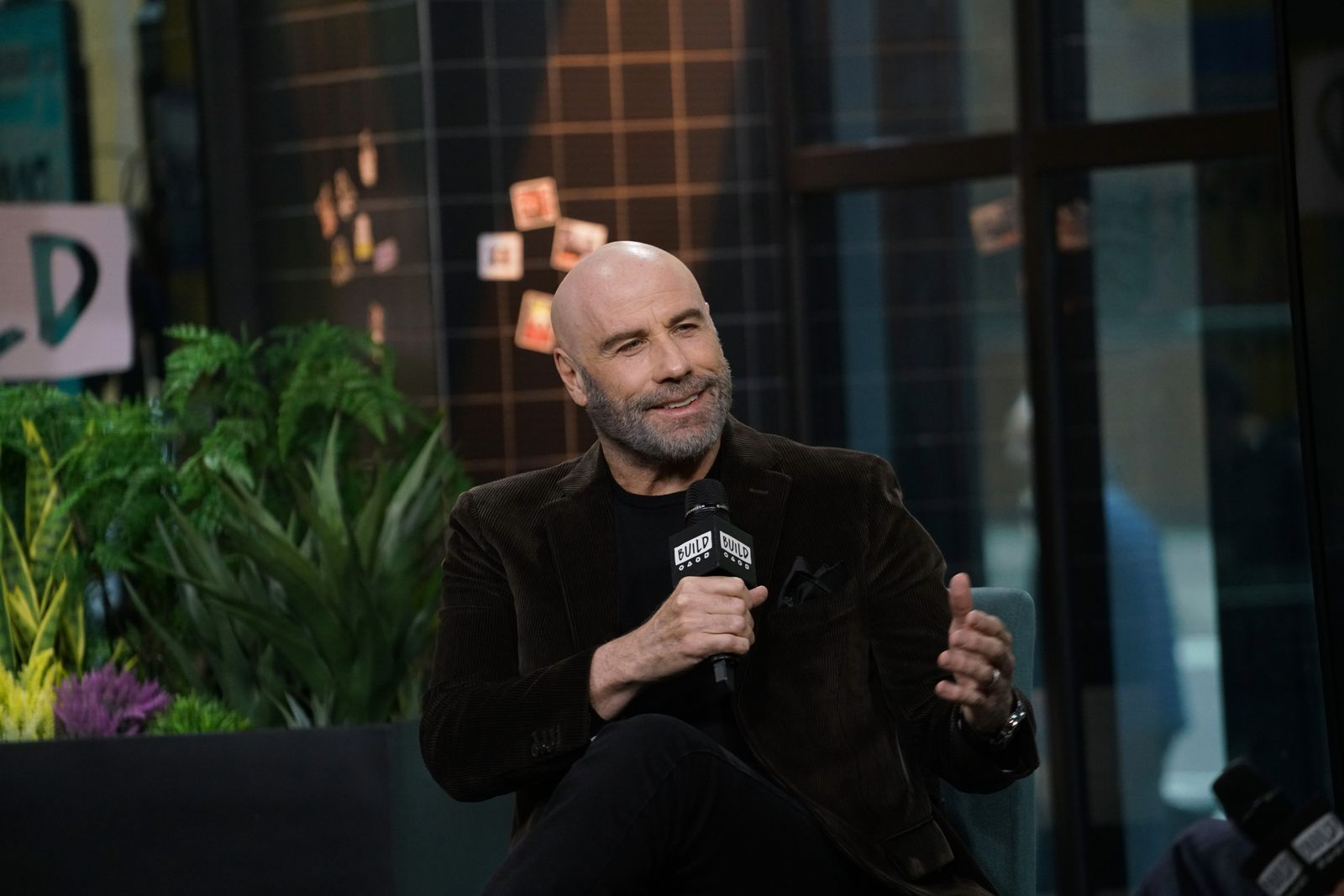 """John Travolta at Build Series to discuss his role in the film """"The Fanatic"""" at Build Studio on November 25, 2019 