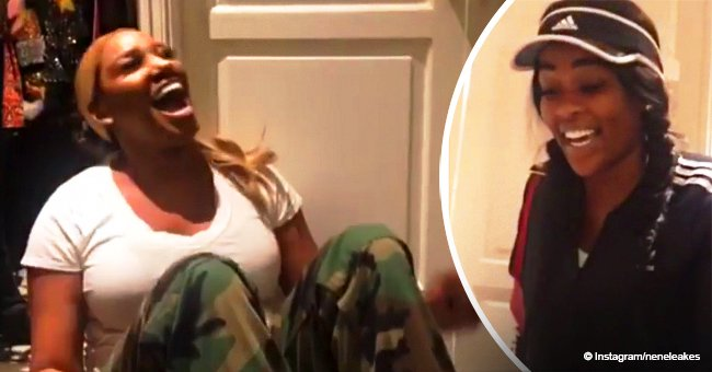 NeNe Leakes shrieks after friend gifts her Gucci for her birthday (video)