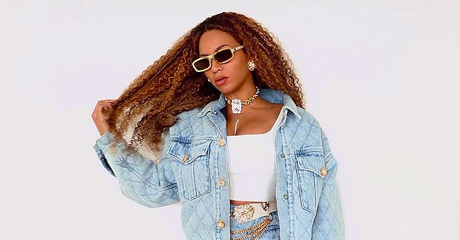 Beyoncé Looks Stylish Flaunting Her Slim Waist in a Snow-White Crop Top & Denim Mini-Skirt