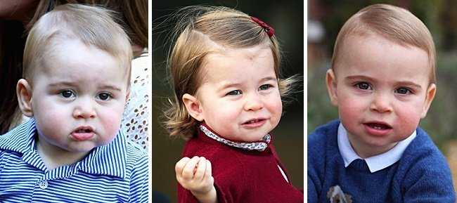 Prince George, Princess Charlotte, and Prince Louis when they were all one-year-old | Photo: Instagram
