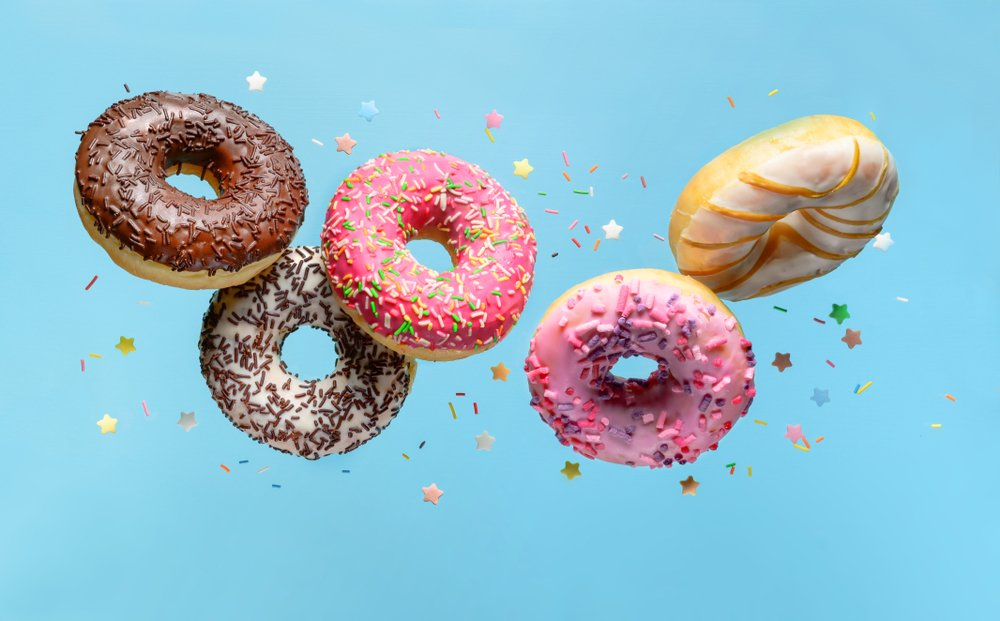 A photo of flying doughnuts. | Photo: Shutterstock