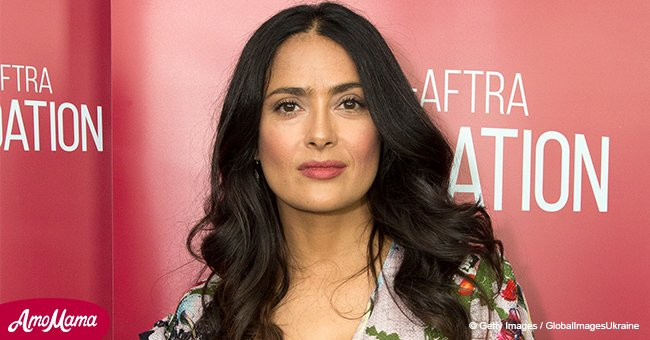 Salma Hayek, 31, looks half her age as she shares stunning photo of herself with flowers