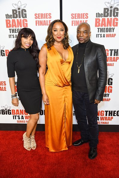"Michaela Jean Burton, Stephanie Cozart Burton and LeVar Burton attend series finale party for CBS' ""The Big Bang Theory"" at The Langham Huntington, Pasadena on May 01, 2019 