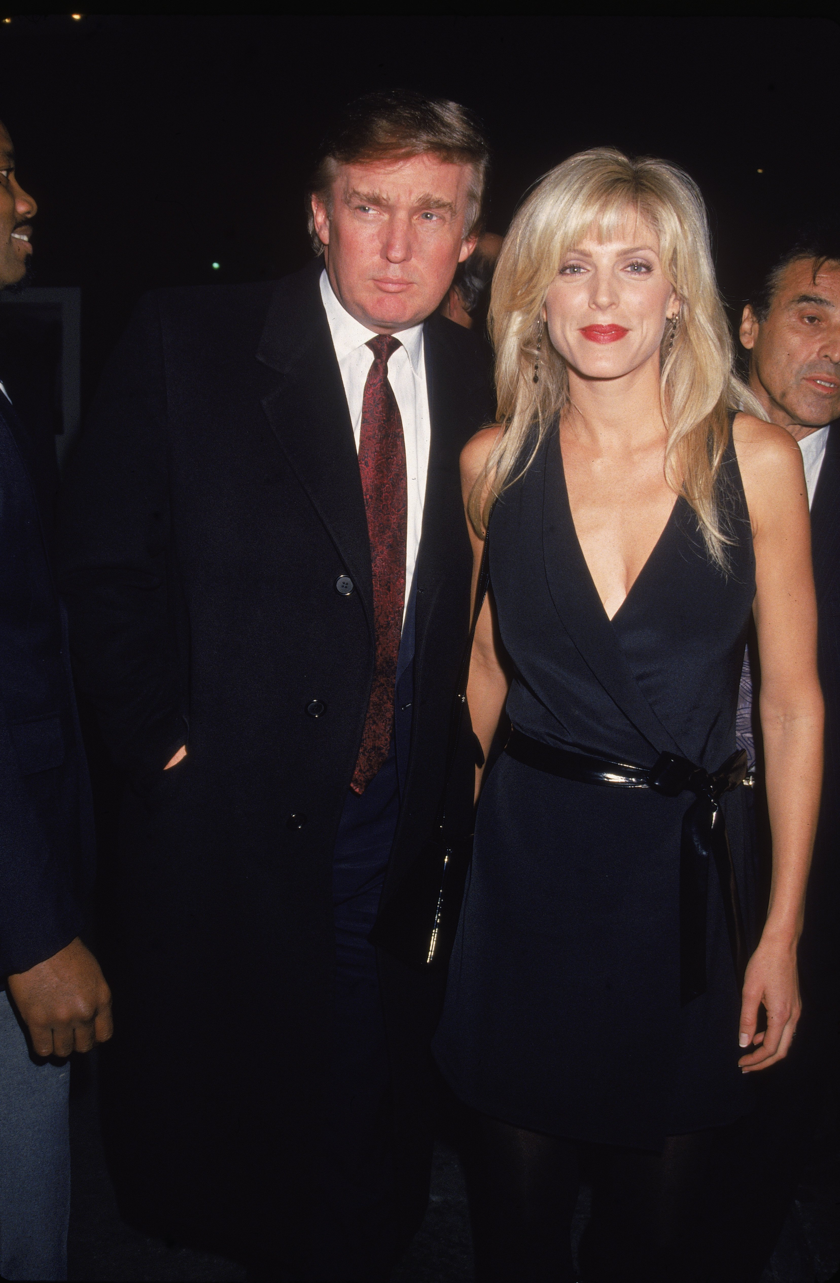 Donald Trump and Marla Maples attend the premiere of the film 'Nell' in New York City on May 1994. | Source: Getty Images