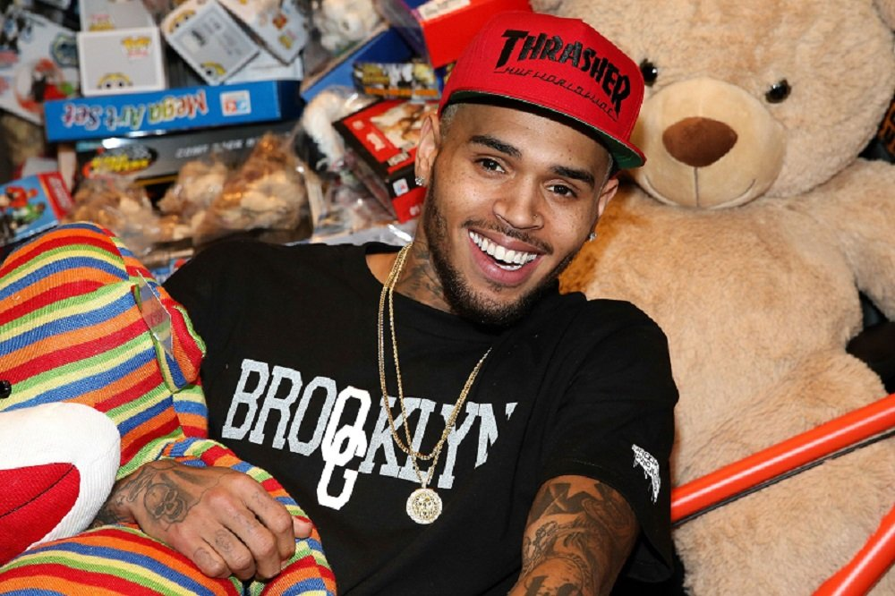 Chris Brown attending the 1st Annual Xmas Toy Drive in Los Angeles, California in December 2013. | Image: Getty Images.