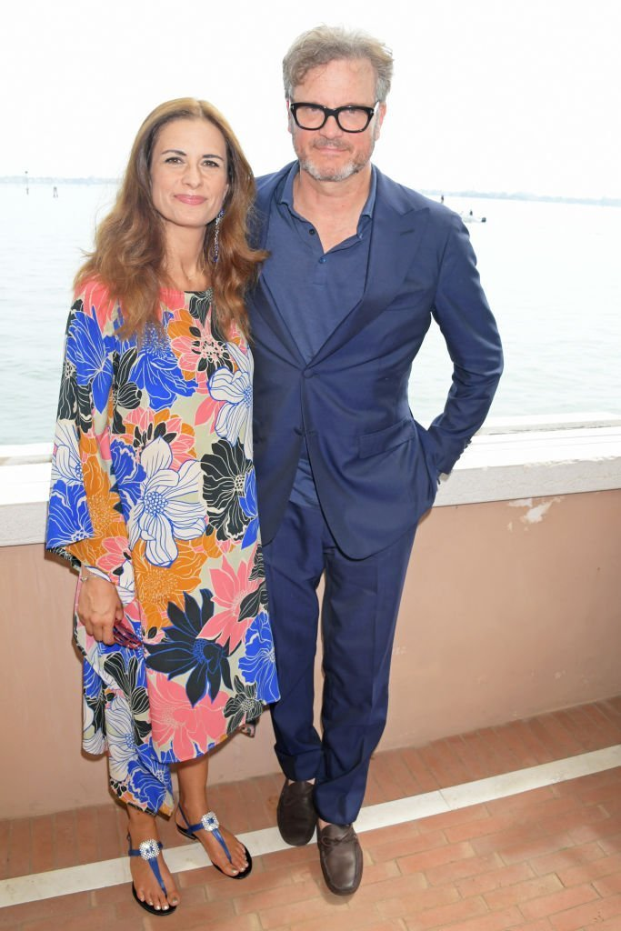 Livia Firth and Colin Firth attend The Green Carpet Fashion Awards lunch, hosted by CNMI and Eco-Age, at Belmond Cipriani Hotel | Photo: Getty Images