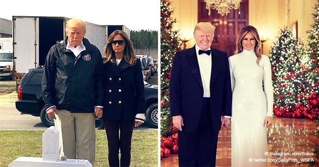 Internet Erupts with 'Fake Melania' Posts after Pics of FLOTUS Emerge in Tornado-Stricken Areas