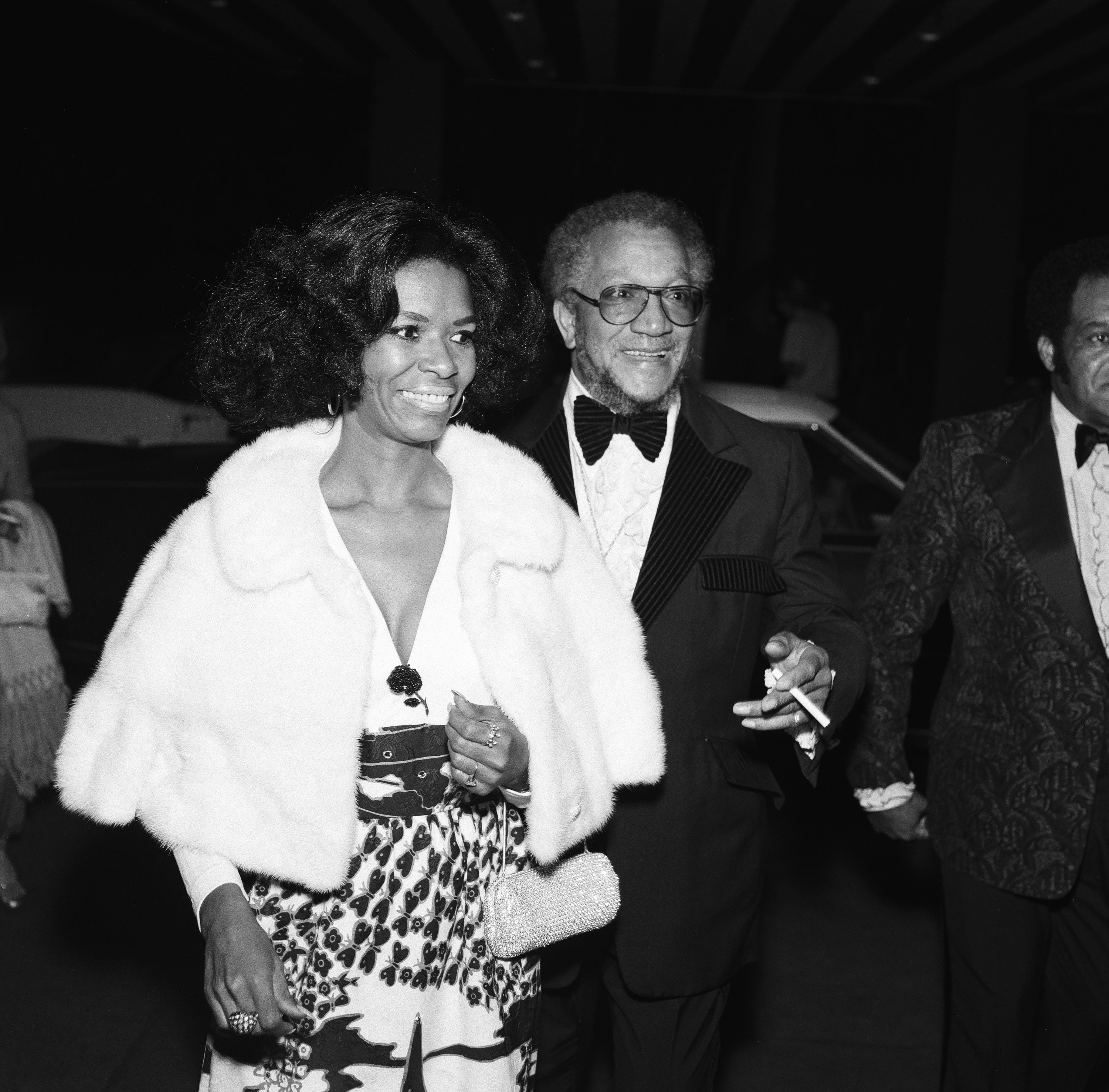"""Betty Jean Harris, and Redd Foxx, attend  the """"Tonight Show Starring Johnny Carson"""" 10th Anniversary party on September 30, 1972 