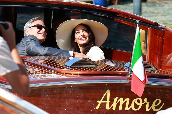 George Clooney and Amal Alamuddin sighted on the way to their civil wedding | Photo: Getty Images