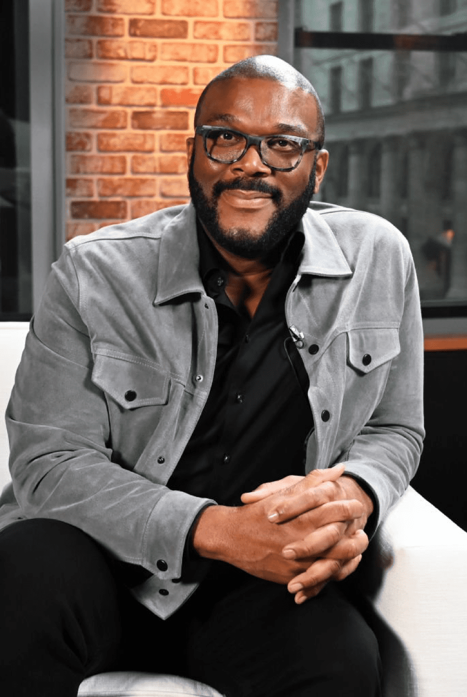 Tyler Perry bei den LinkedIn Studios am 13.91.20 in New York. | Quelle: Getty Images
