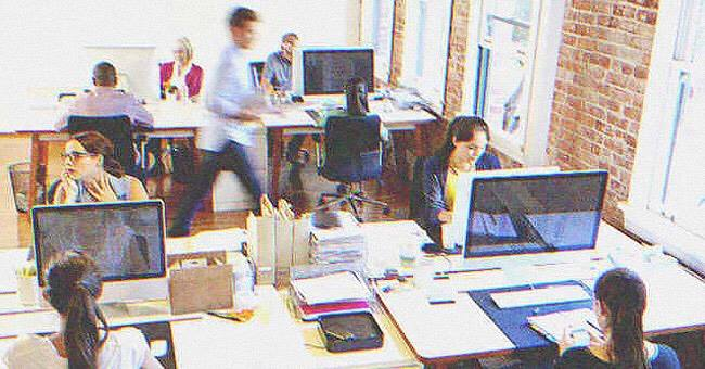 Busy day at an office. | Source: Shutterstock