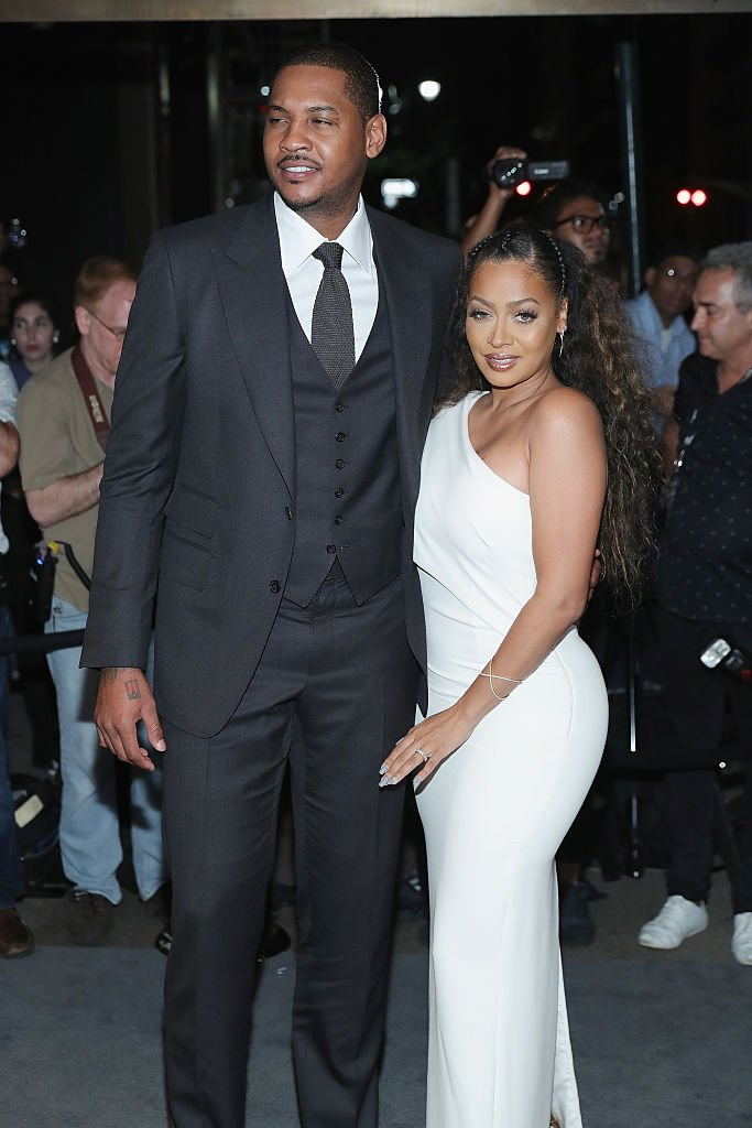 Carmelo Anthony and La La Anthony attend Tom Ford fashion show during New York Fashion Week September 2016 at 99E 52d St. | Photo: Getty Images