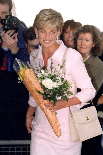 "Princess Diana Attends The ""Gold Awards"" At The Savoy in 1997 