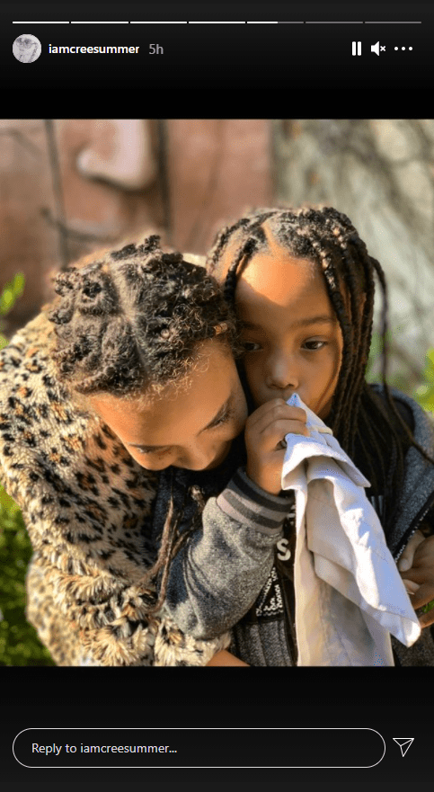 A photo of musician Cree Summer and one of her adorable kids on Instagram   Photo: Instagram/iamcreesummers