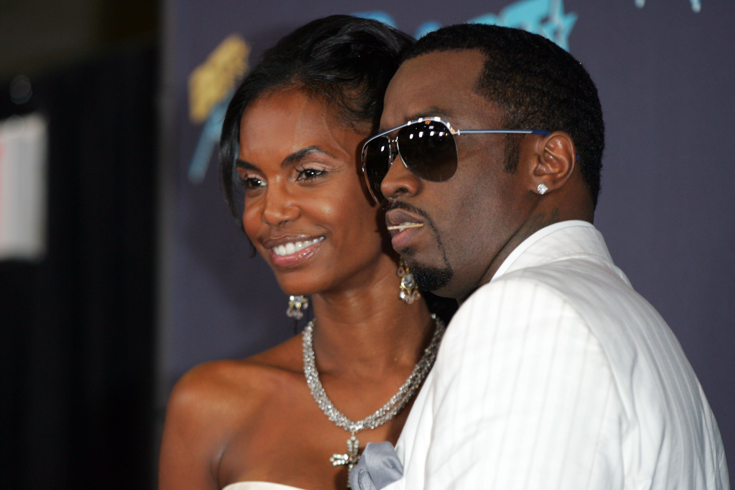 "Sean ""Diddy"" Combs and Kim Porter during the 2006 BET Awards 