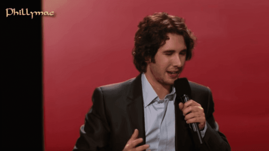 Josh Groban giving his all. Image credit: YouTube/Phillymacvideos