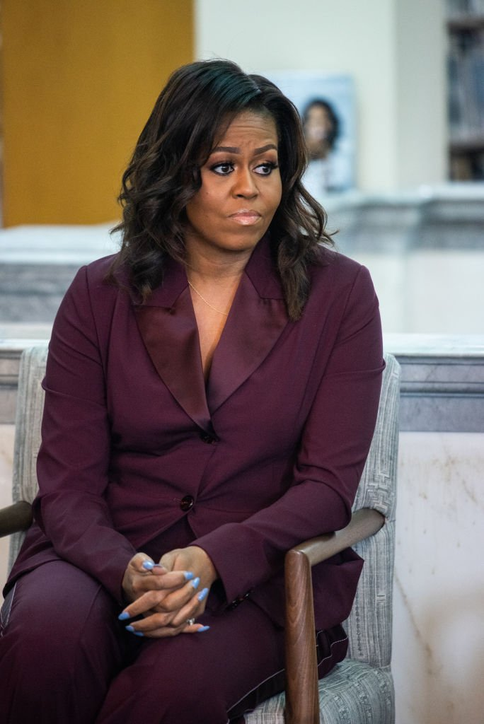 """Michelle Obama joins a book group as she speaks about her book """"Becoming"""" at the Tacoma Public Library on March 24, 2019, in Tacoma, Washington 
