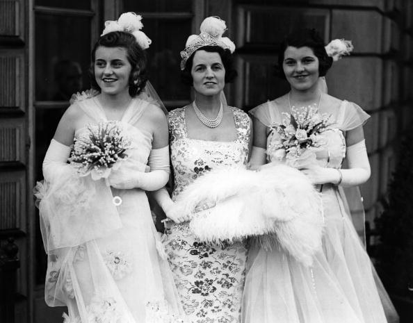 Rose Kennedy with her daughters, Kathleen and Rosemary, leaving their London house.   Photo: Getty Images