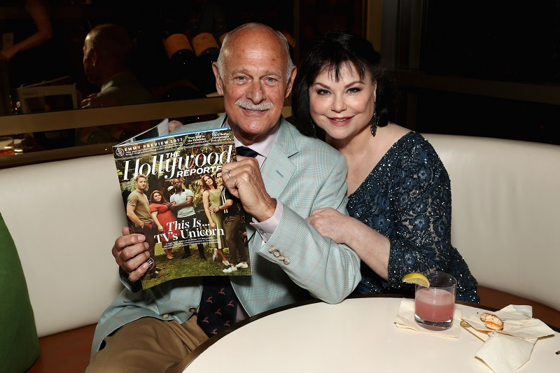 Delta Burke and Gerald McRaney at the Waldorf Astoria Beverly Hills on September 14, 2017 | Source: Getty Images
