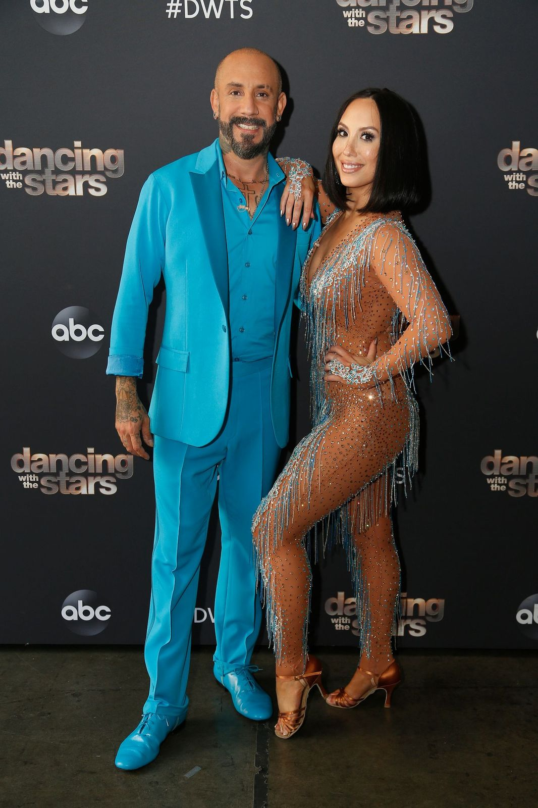 """AJ McLean & Cheryl Burke at ABC's """"Dancing With the Stars"""" - Season 29 - Season Premiere on September 14, 2020   Photo: Getty Images"""