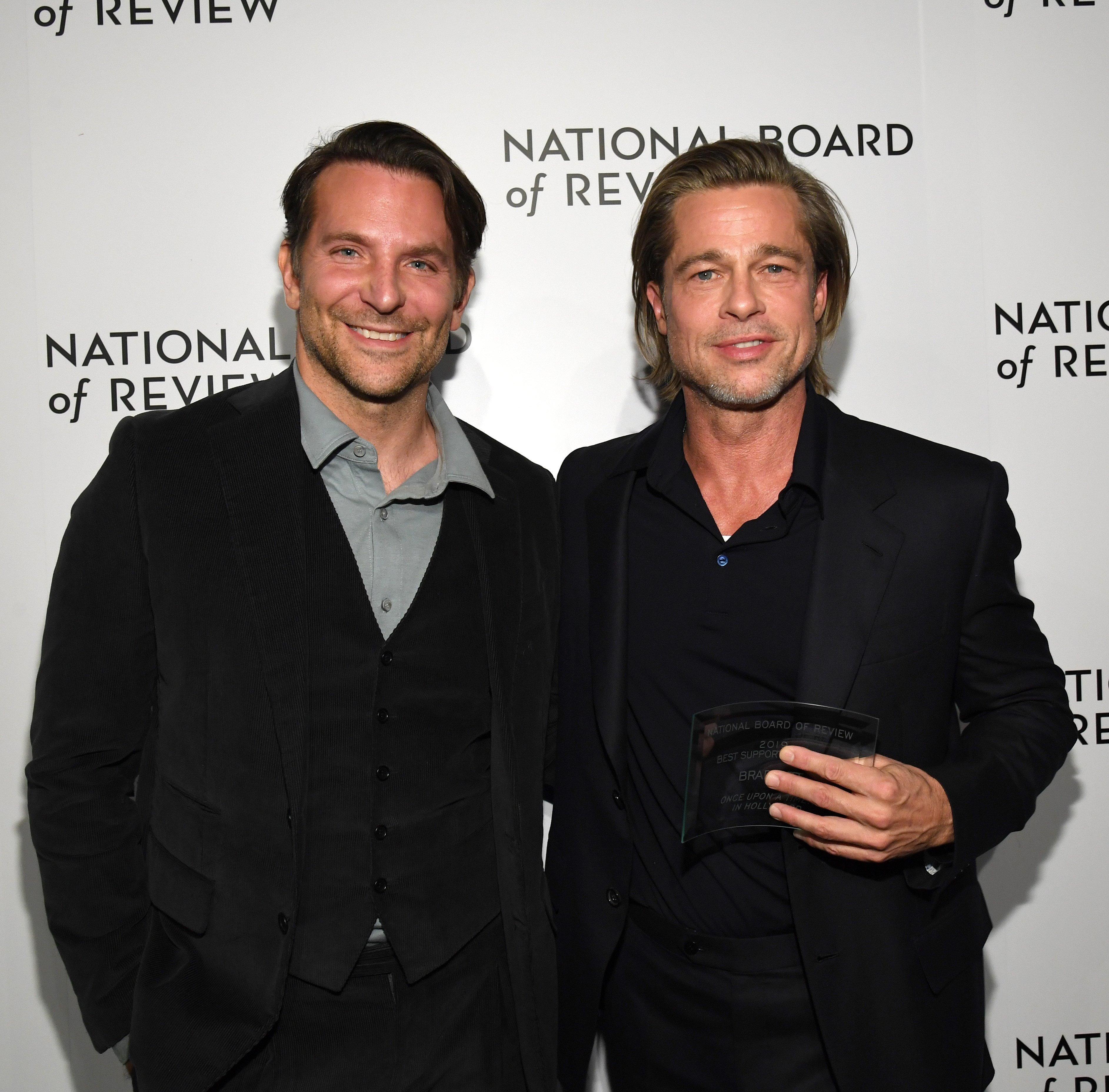 Bradley Cooper and Brad Pitt attend The National Board of Review Annual Awards Gala on January 08, 2020, in New York City. | Source: Getty Images.