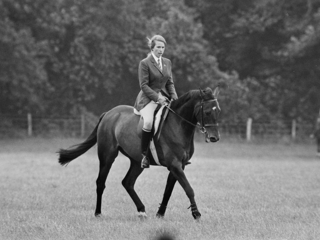 Princess Anne on horse Purple Star at Eridge Horse Trials, Kent, 3rd August 1968. | Source: Getty Images.