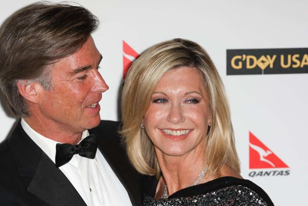ohn Easterling and Olivia Newton-John attend the G'Day USA black tie gala on January 16, 2010 at Hollywood and Highland Grand Ballroom | Source: Shutterstock