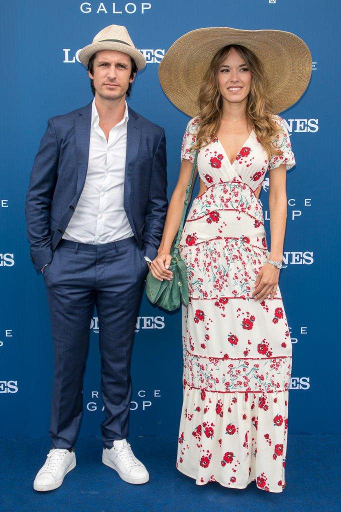 Élodie Fontan et son compagnon en 2018. l Source : Getty Images